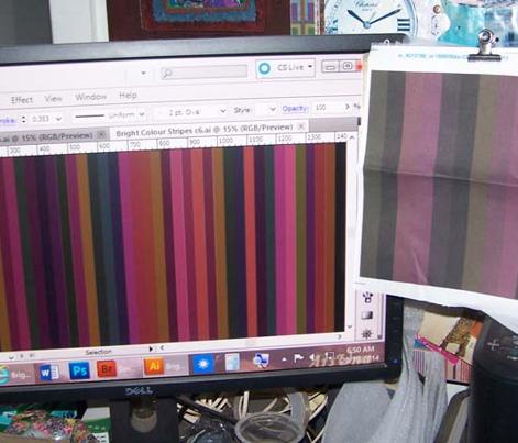 Bright Colour Stripes DirtynDeep