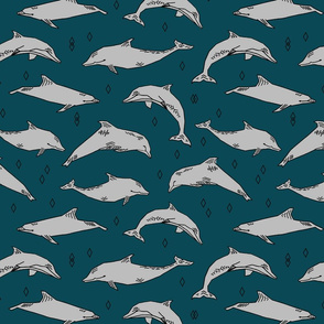 dolphin // kids animals ocean water animals whales nautical summer