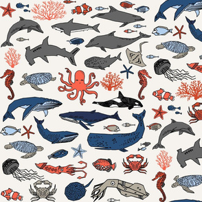 Ocean Animals by Andrea Lauren