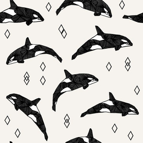 orca whales // ocean water kids nautical summer kids