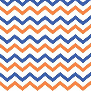 Blue & Orange Chevron