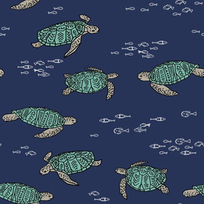 Sea Turtles by Andrea Lauren