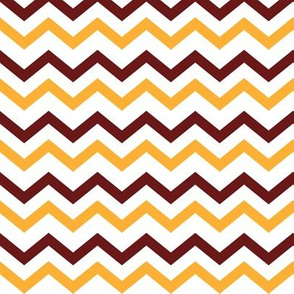 Garnet & Gold Chevron