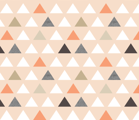 Blush Melon Triangles fabric by mrshervi on Spoonflower - custom fabric
