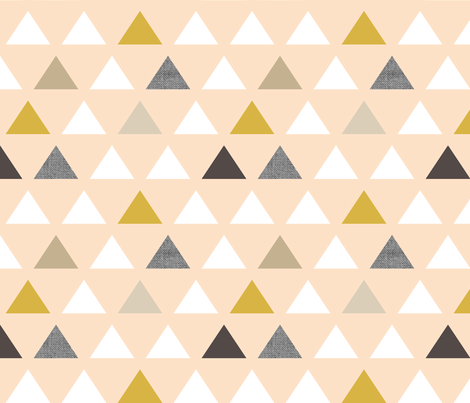 Gold Blush Triangles fabric by mrshervi on Spoonflower - custom fabric
