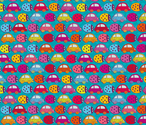 Beetle Jam fabric by jill_o_connor on Spoonflower - custom fabric