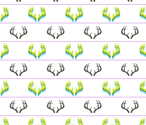 Technicolor Antlers fabric by sharri on Spoonflower - custom fabric
