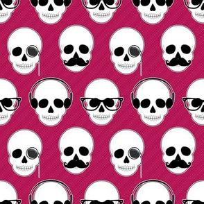 Hipster Skulls Pattern PInk