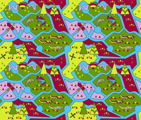 Hiking Trails fabric by canterlanedesign on Spoonflower - custom fabric