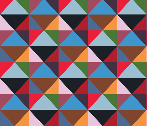 Modernist Triangles ~ Panel A  fabric by peacoquettedesigns on Spoonflower - custom fabric