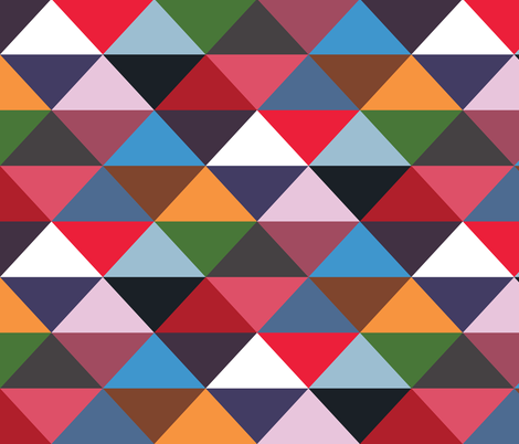 Modernist Triangles fabric by peacoquettedesigns on Spoonflower - custom fabric