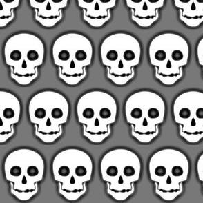 Skull White on Gray- cluster