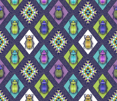 Scarabs Quilt fabric by vannina on Spoonflower - custom fabric