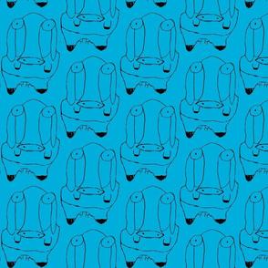 garrett's cow on blue