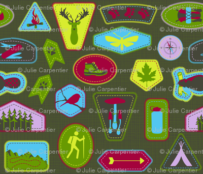 Julie's Hiking Badges