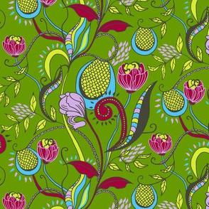 floral walk - green