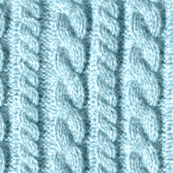 Knitting in blue