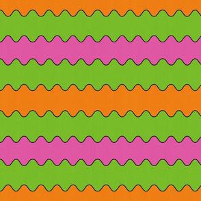 Horizontal cotton candy wave