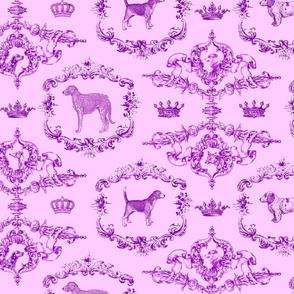 Doggy Toile pink