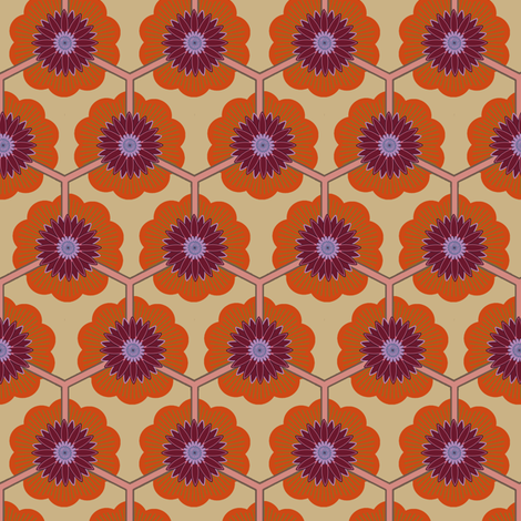 lotus dawn fabric by keweenawchris on Spoonflower - custom fabric