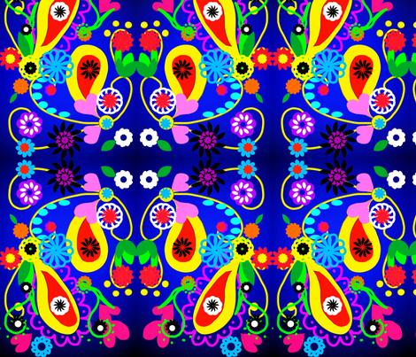 Retro Love Doodles fabric by charldia on Spoonflower - custom fabric