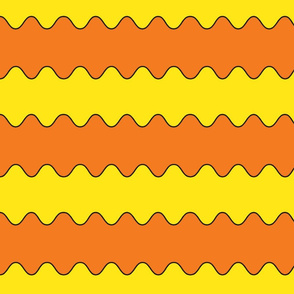 orange and yellow waves