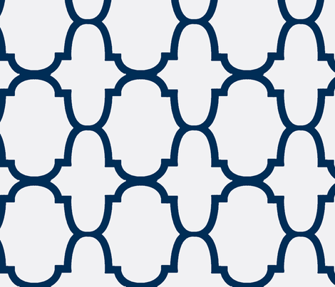 Quatrefoil- Blue test 2-Large