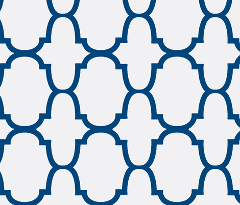 Quatrefoil- Blue test 3-Large
