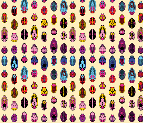 Colorful Beetles fabric by angeladesaenz on Spoonflower - custom fabric