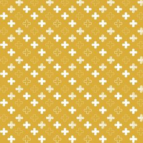 plusjes-patroon-geel