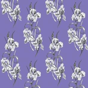 violet & grey half drop