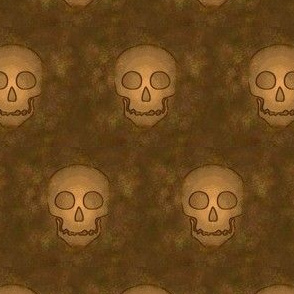 Ancient Skulls on Brown