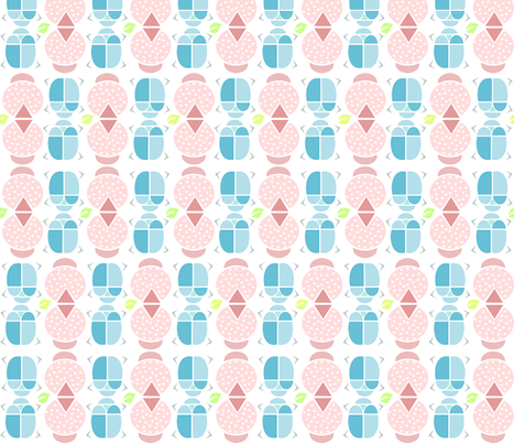 beetles geometric fabric by kny on Spoonflower - custom fabric