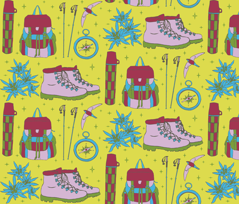 hiking_print fabric by katesbeads on Spoonflower - custom fabric