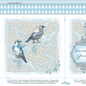 Holiday gift bag - blue birds