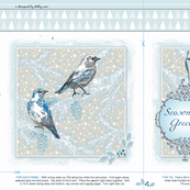 Holiday gift bag - blue birds