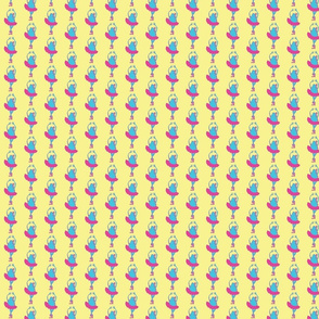 Francine/ Blue Pink Green-ch