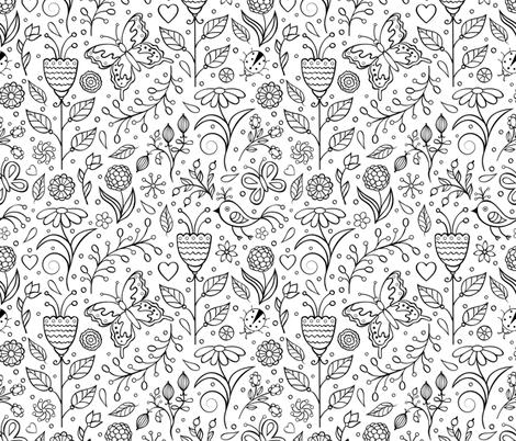 summer pattern fabric by kiyanochka on Spoonflower - custom fabric