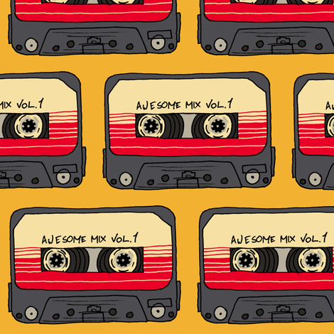 Awesome Mix Tape Vol 1 fabric by aimee on Spoonflower - custom fabric