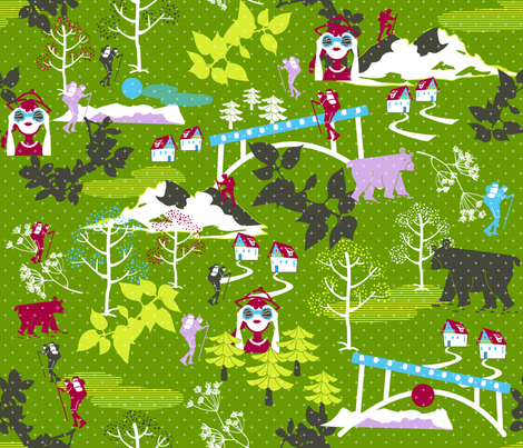 hiking fabric by misslin on Spoonflower - custom fabric