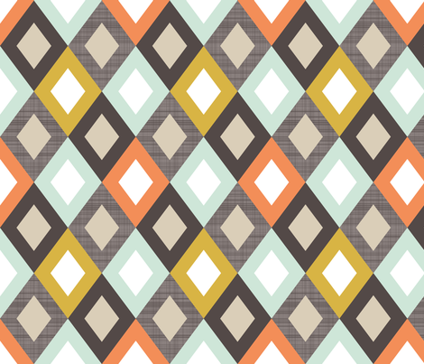 Tribal Linen Diamonds LG fabric by mrshervi on Spoonflower - custom fabric