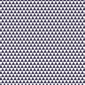 Space Triangles - White + Midnight Purple