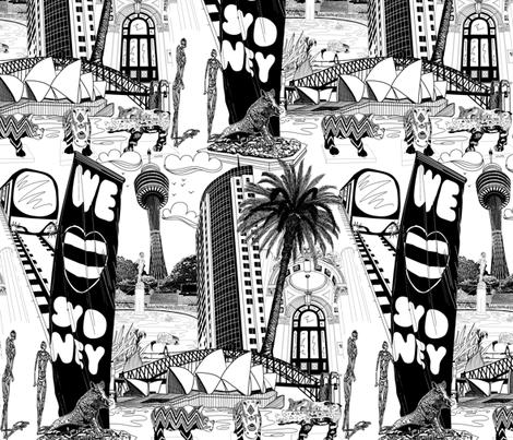 We LOVE Sydney! fabric by art_on_fabric on Spoonflower - custom fabric