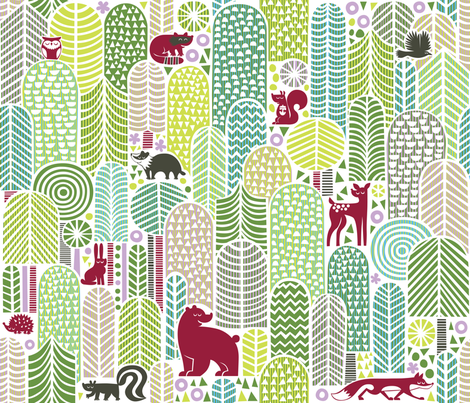Welcome to the forest! fabric by dennisthebadger on Spoonflower - custom fabric