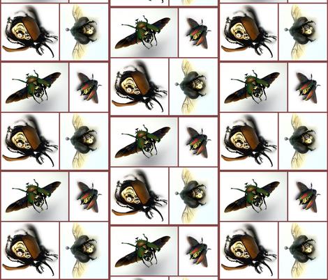 Clockwork Beetles fabric by mamapeachykeen on Spoonflower - custom fabric