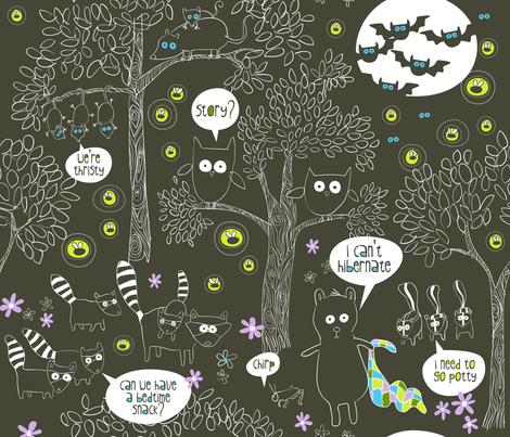 Night Hike fabric by bzbdesigner on Spoonflower - custom fabric
