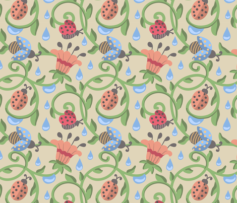 Beetle-01 fabric by milta on Spoonflower - custom fabric
