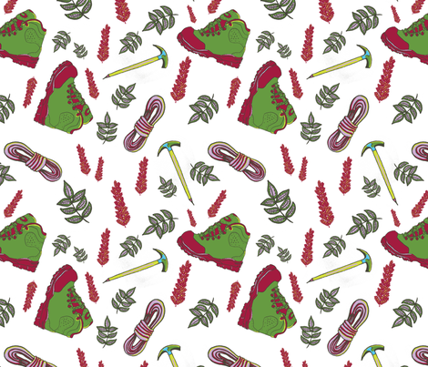 hiking fabric by paperon on Spoonflower - custom fabric