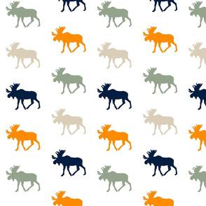 Multi Moose // Navy/Orange/Sage/Tan