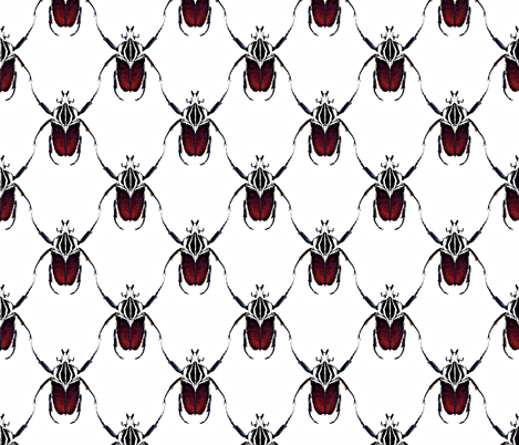 Beetle Lattice fabric by babyancestree on Spoonflower - custom fabric